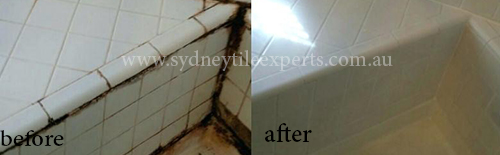 before and after Shower Regrouting Tile