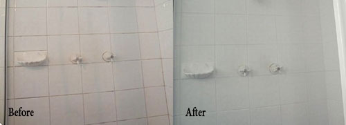 Regrouted Shower