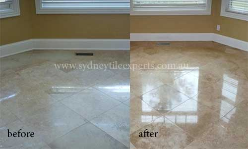 Polishing Travertine Tiles