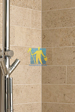 limestone tiles shower moleanos beige Narraweena cleaning