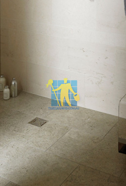 limestone tiles shower moleanos blue Narraweena cleaning