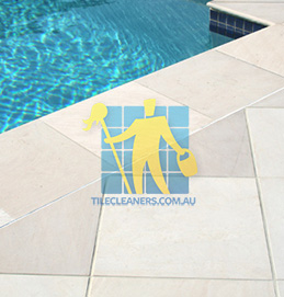 outdoor sandstone tile pool snow white Sydney