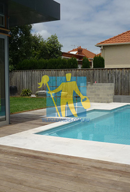 outdoor sandstone tiles pool coping snow white Sydney