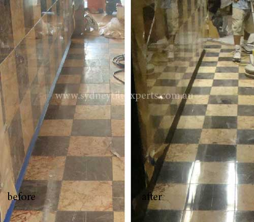 before and after cleaning granite