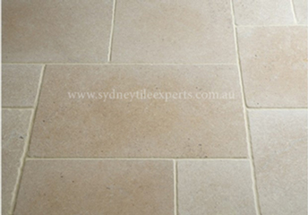 before and after Grinding limestone tile