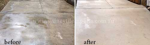 before and after Stripping marble tile floor