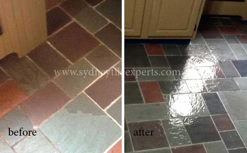 Regrouting Slate Tiles