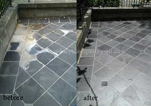 before after tile grout service