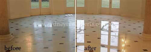 cleaning travertine Tiles