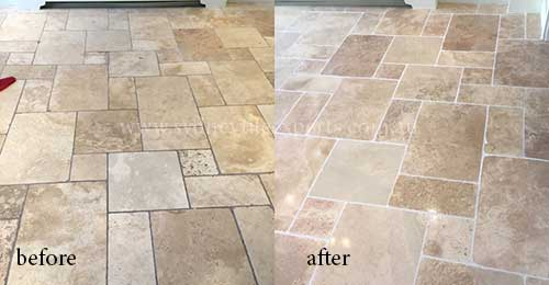 repairing travertine Tiles