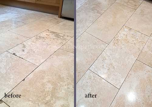 stripping travertine Tiles