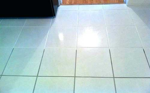 cleaning and sealing grout lines before and after