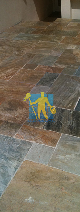 clean slate tiles unsealed after stripping and cleaning irregular sizes Narraweena sealing